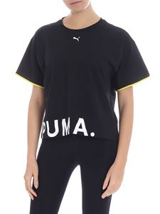 Puma - Black boxy t-shirt with logo