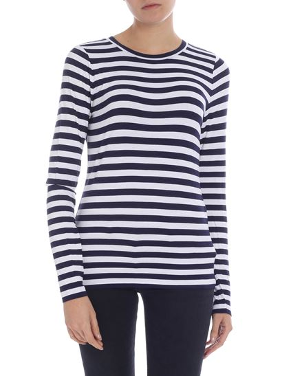 Michael Kors - Blue and white striped T-shirt