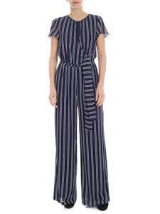 Michael Kors - Blue jumpsuit with white stripes