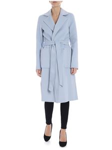 Michael Kors - Light-blue coat with logo