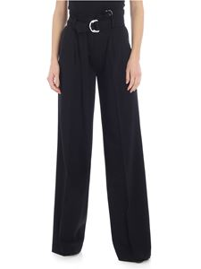 Michael Kors - Black palazzo trousers with tailored pleat