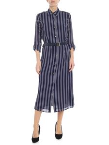 Michael Kors - Blue and white striped chemisier