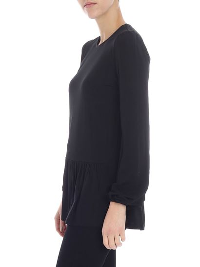 Michael Kors - Black t-shirt with flounce