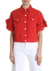 MSGM - Red denim jacket