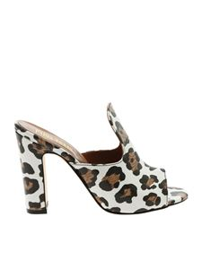 Paris Texas - White animalier printed sandals