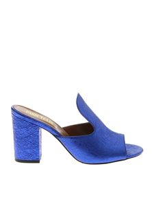 Paris Texas - Blue laminated sandals