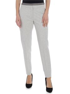 Fabiana Filippi - Gray trousers with silver beads detail