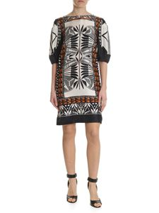 Alberta Ferretti - Ivory white dress with geometric pattern