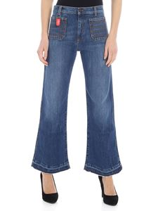 Philosophy di Lorenzo Serafini - Blue bootcut jeans with patch pockets