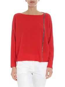 Fabiana Filippi - Red pullover with silver beads