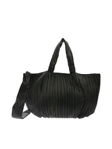 Max Mara - Shopper Frances nera in nappa plissettata