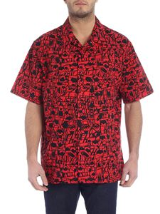 Givenchy - Monsters overfit red printed shirt