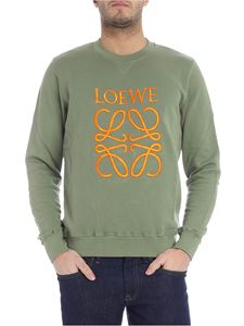 Loewe - Green sweatshirt with logo