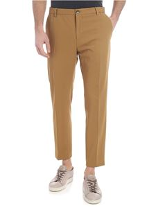 Calvin Klein - Camel colored trousers in diagonal fabric