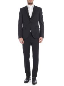 Collection Corneliani - Black single button suit with satin edges