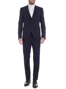 Collection Corneliani - Single button blue suit with satin edges