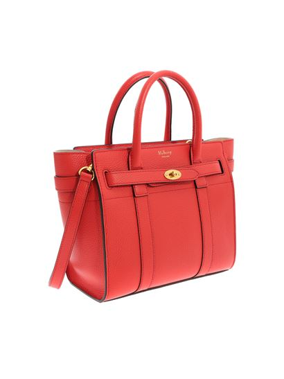 c0329f41de84 Mulberry Spring Summer 2019 mini zipped bayswater red bag - HH4949 ...