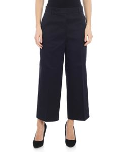 Thom Browne - Straight leg trousers in navy blue cotton