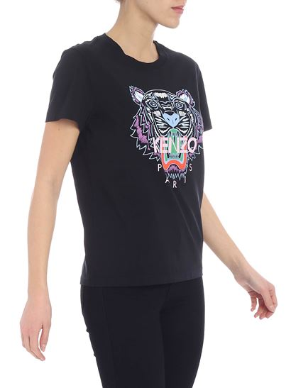 Kenzo - Tiger black t-shirt with multicolor print