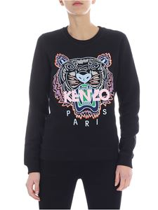 Kenzo - Tiger Kenzo black sweatshirt with embroidered logo