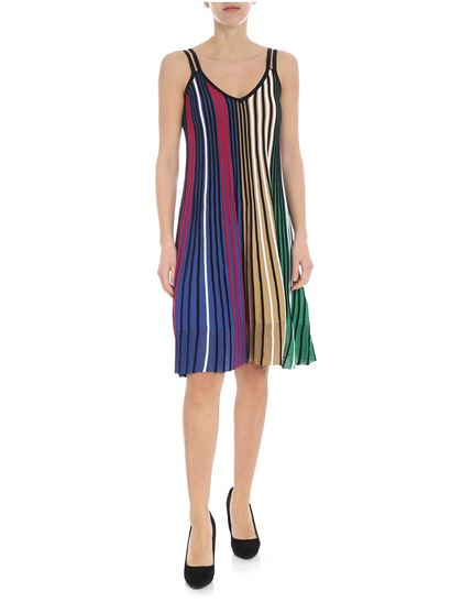 Kenzo - Kenzo sleeveless dress in multicolor knitted fabric