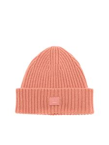 Acne Studios - Mini Pansy N Face pink beanie