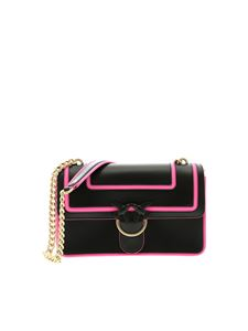 Pinko - Love Fluo bag in black leather
