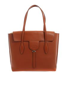 Tod's - Joy Medium shopping bag in brown leather