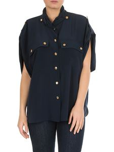 Chloé - Blue silk blouse with chest pockets
