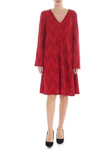 M Missoni - Red Chevron pattern dress