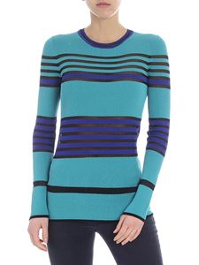 M Missoni - Turquoise sweater with nude effect details