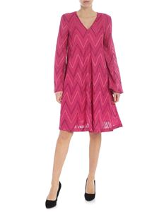 M Missoni - Fuchsia Chevron dress