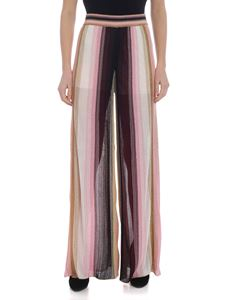 M Missoni - Nude effect palazzo trousers