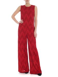M Missoni - Red Chevron jumpsuit with palazzo trousers