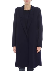 Fabiana Filippi - Blue single-breasted coat