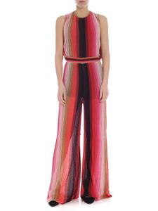 M Missoni - Jumpsuit in shades of pink with lamé insert
