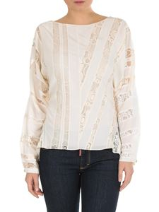 Chloé - Chloè blouse in ivory-colored pure silk