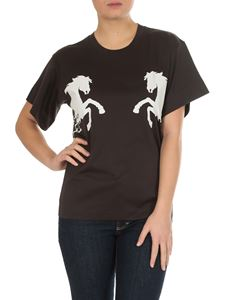 Chloé - Horse printed T-shirt in black cotton