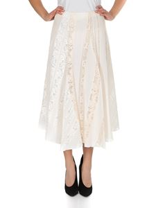 Chloé - Midi skirt in ivory silk