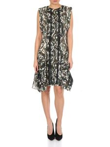 Chloé - Sleeveless dress in floral silk with lace inserts