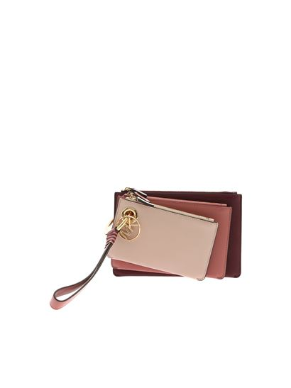Michael Kors - Trio clutch bag in shades of pink