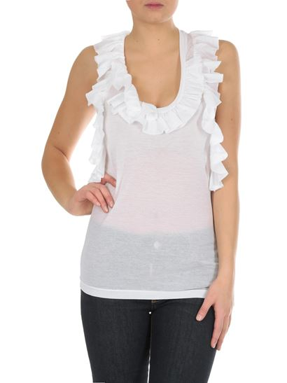 Dsquared2 - White top with ruffles