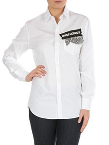 Dsquared2 - White shirt with lace and logo
