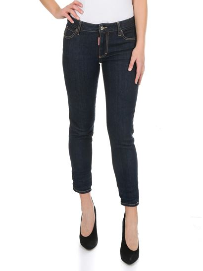 Dsquared2 - Medium Waist Cropped Twiggy blue jeans