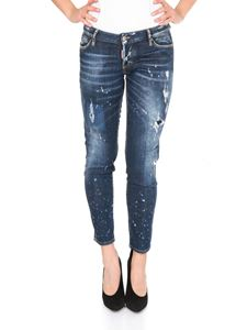 Dsquared2 - Jennifer blue cropped jeans