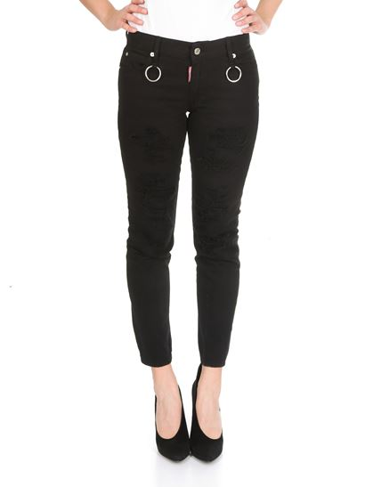 Dsquared2 - Runway Straight Cropped black jeans