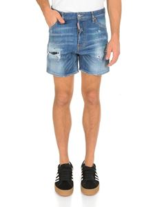 Dsquared2 - Bermuda in blue delavé denim