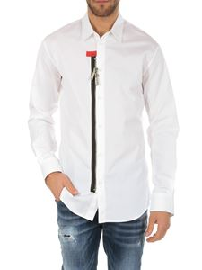 Dsquared2 - White shirt with black zip insert