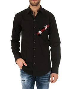 Dsquared2 - #Dsquared shirt in black cotton