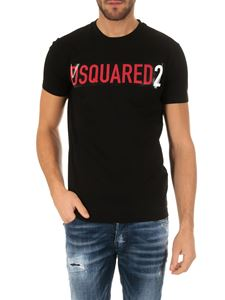 Dsquared2 - Dsquared2 t-shirt in black cotton with logo print
